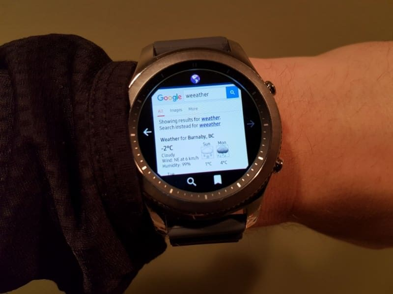 Smartwatch Web Browser