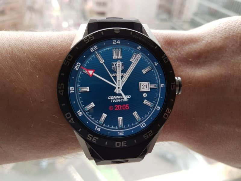 Tag Heuer Connected smartwatch GMT Blue face