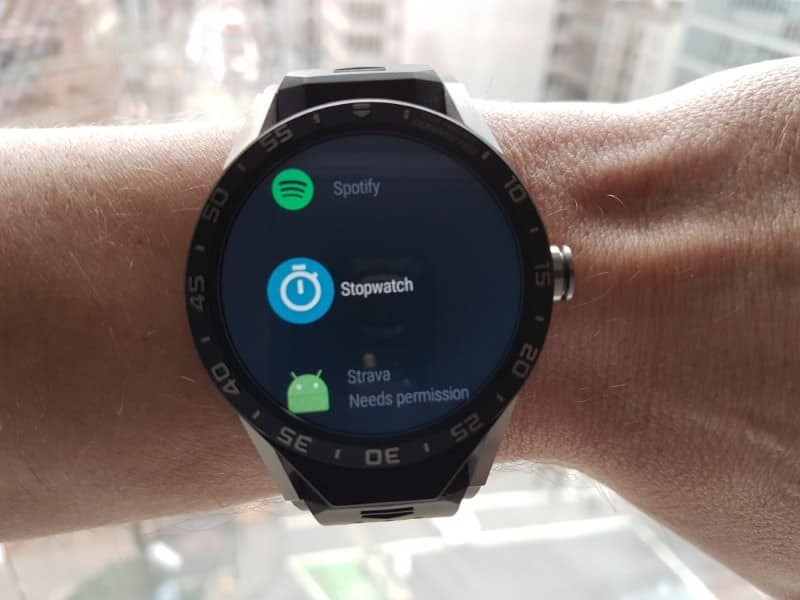 Tag Heuer Connected Smartwatch stopwatch
