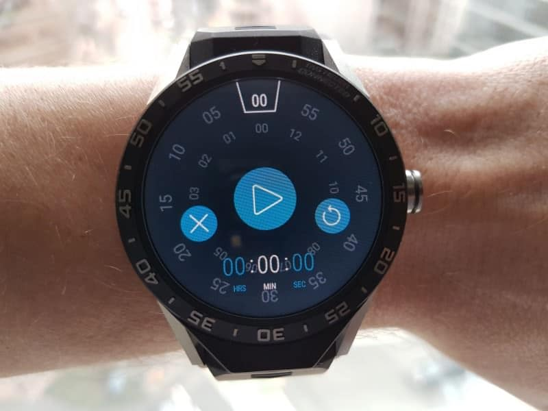 Tag Heuer Connected Smartwatch custom timer in action
