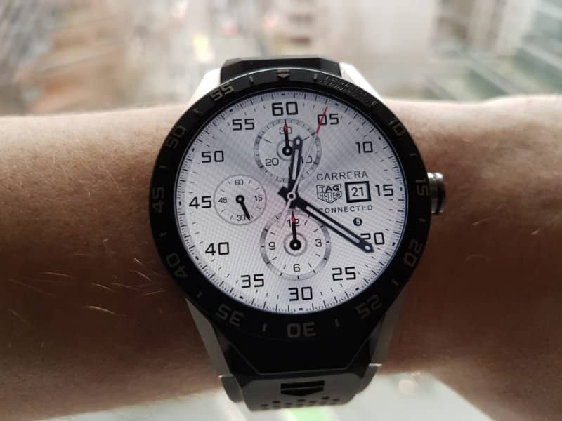Tag Heuer Connected smartwatch chronograph white