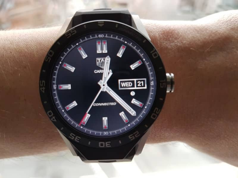 Tag Heuer Connected smartwatch three-hand black face