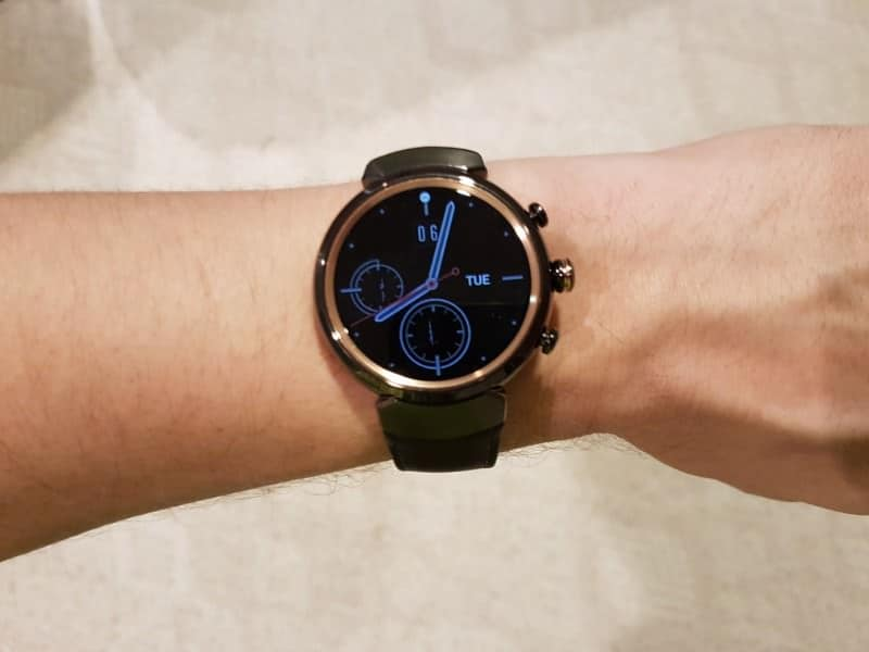 Wearing ZenWatch 3
