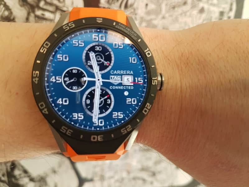 Tag Heuer Connected smartwatch with orange strap