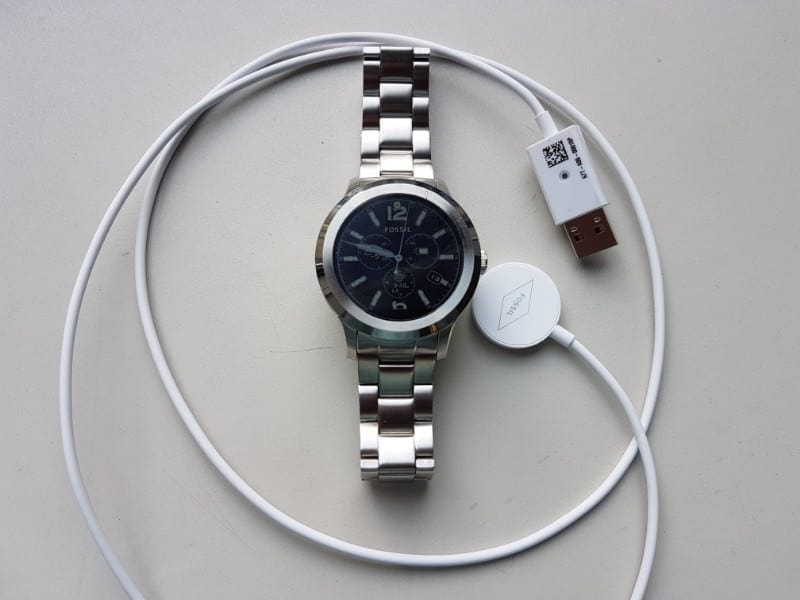 Fossil Q Founder 2 smartwatch and battery charger