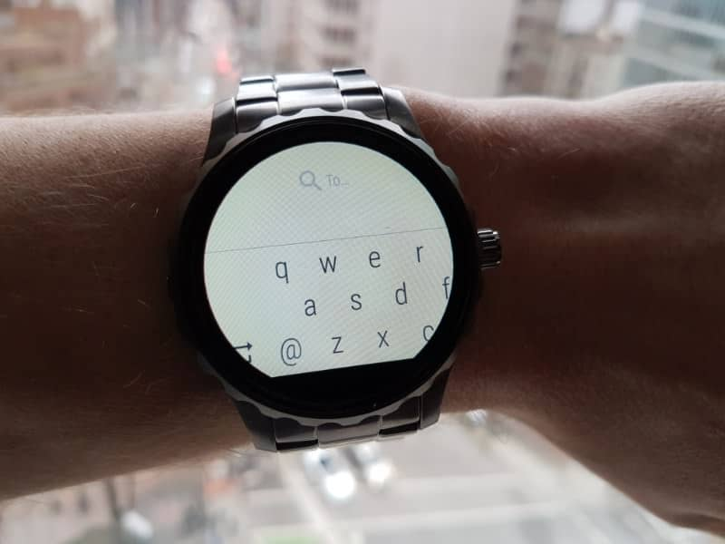 Keyboard on the Fossil Q Marshal Smartwatch