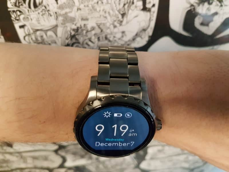 Top side view of the Fossil Q Marshal Smartwatch
