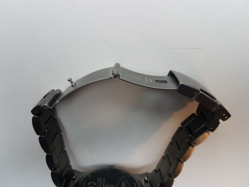 Open clasp of the Fossil Q Marshal Smartwatch