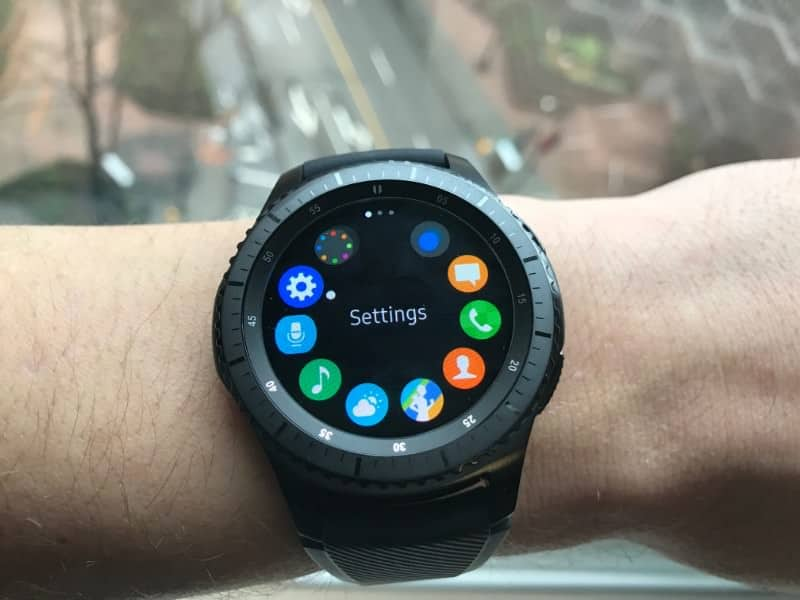 Navigation app screen on the Samsung Gear S3 Frontier Smartwatch