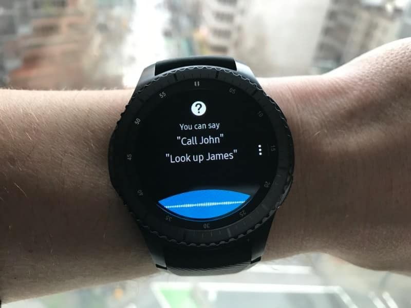 S Voice function on the Samsung Gear S3 Frontier Smartwatch