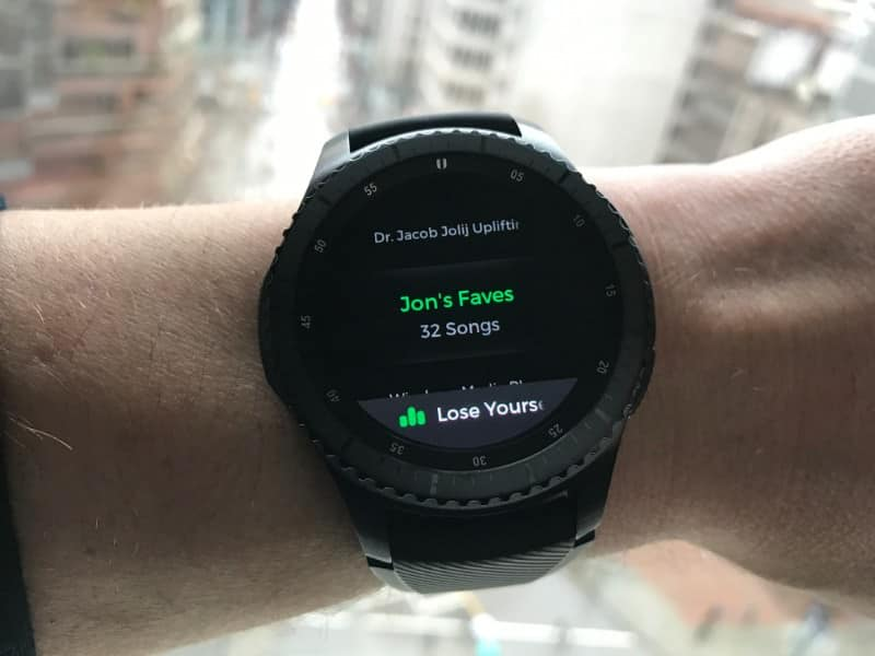 Spotify on the Samsung Gear S3 Frontier Smartwatch