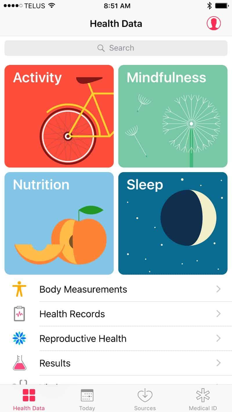 Apple Series 2 Smartwatch health app interface