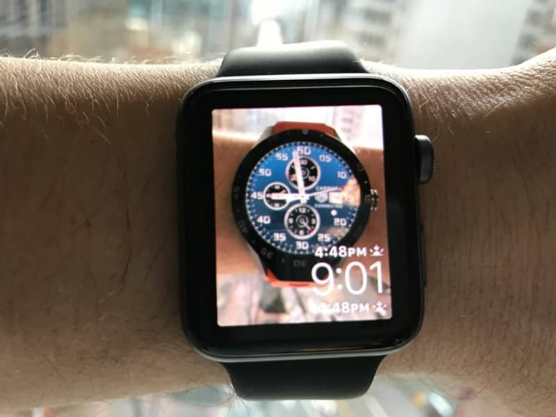 Example of a photo used as Apple 2 Series Watch screen