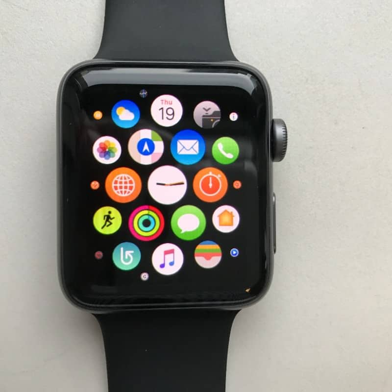 Navigation screen on the Apple Series 2 Smartwatch