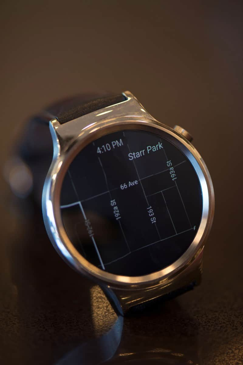 Close up photo of Huawei smartwatch screen