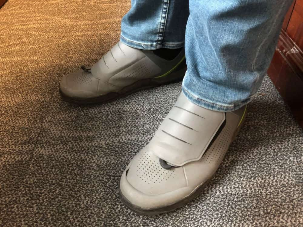 The Shimano GR9 shoe with jeans