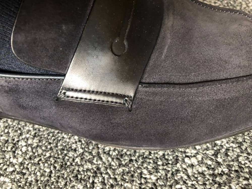 Close-up image of Ermenegildo Zegna A'Sola suede loafer