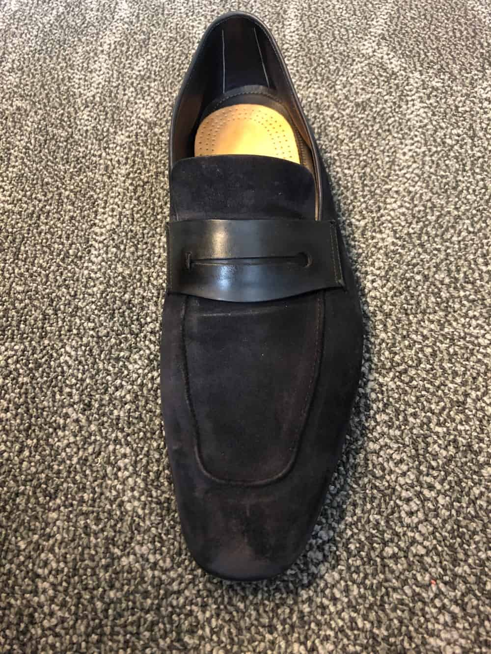 Front view of Zegna A'sola suede loafer