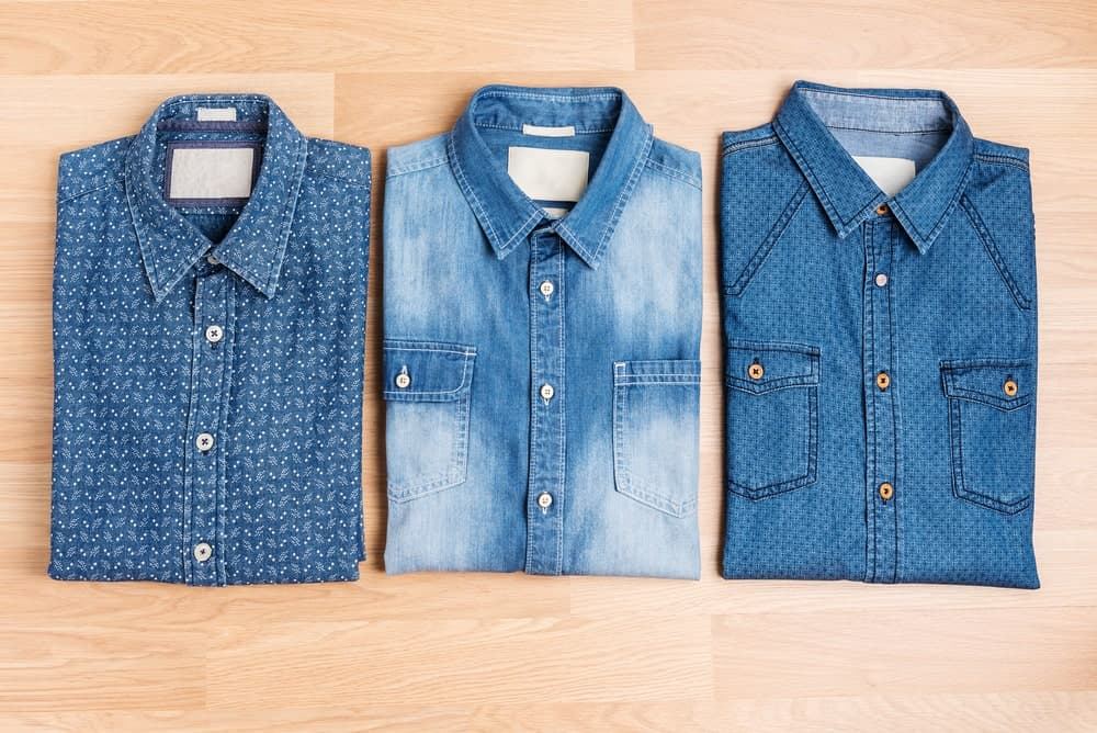Folded Denim Shirts
