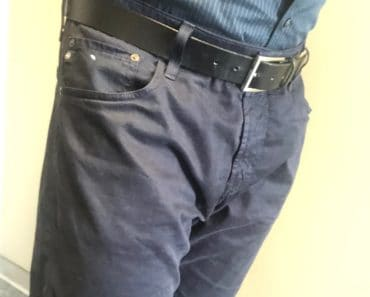 AG 5-pocket blue pants for men