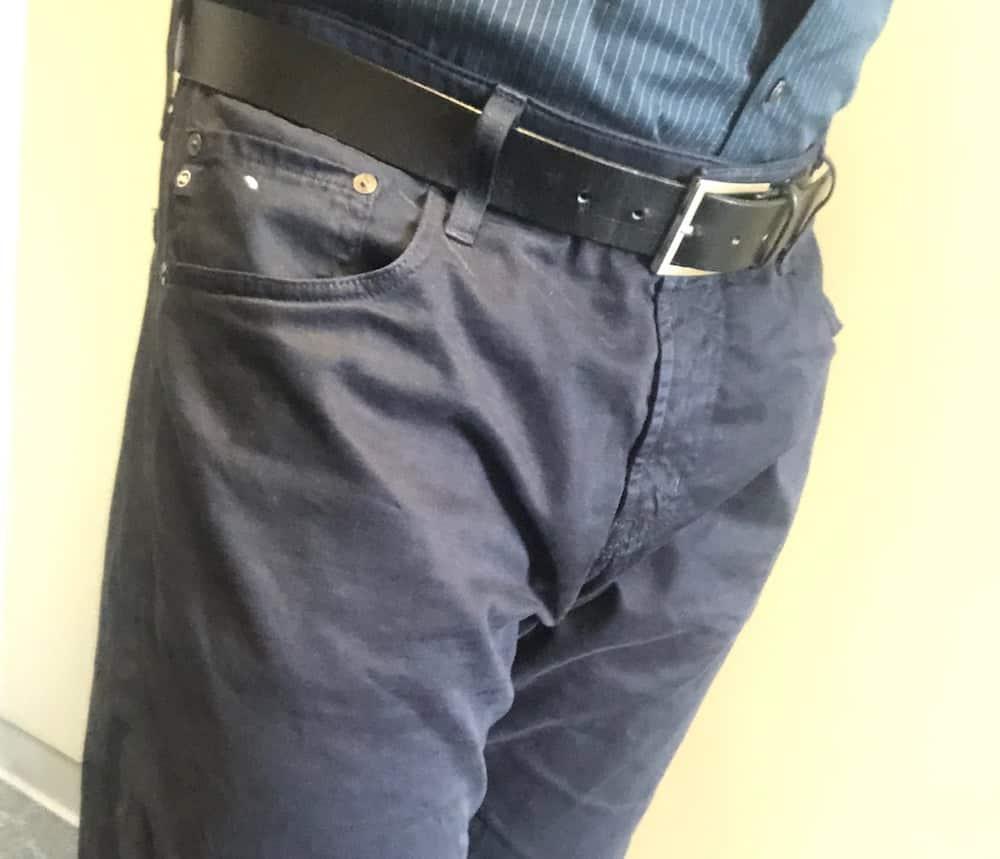 AG 5-pocket blue pants for men