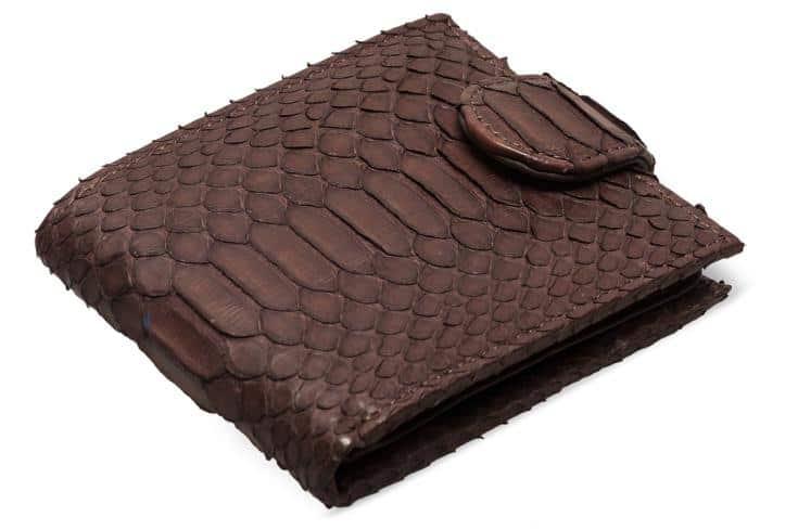 A brown alligator wallet