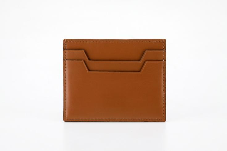 A brown cardholder wallet