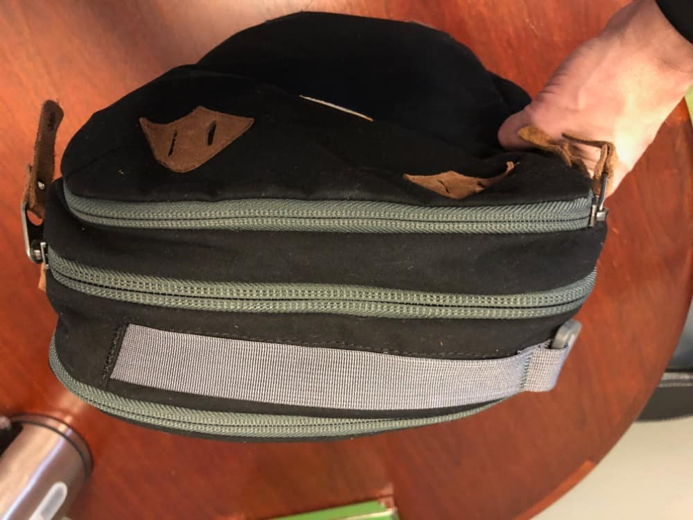 Top handle on the Cotopaxi Nazca backpack