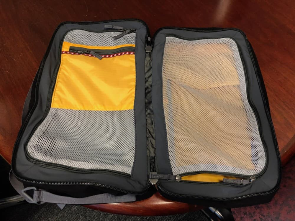 Cotopaxi Nazca backpack opened up like a suitcase