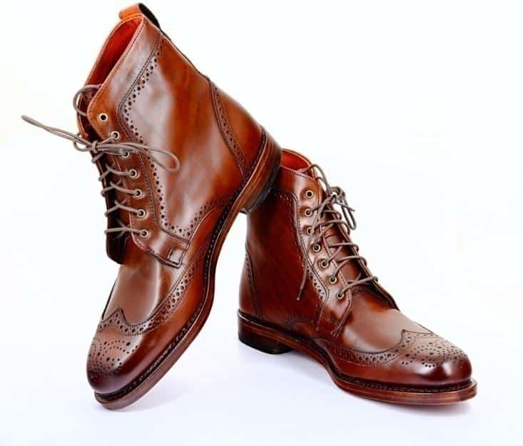 Brogue Wingtip Boots