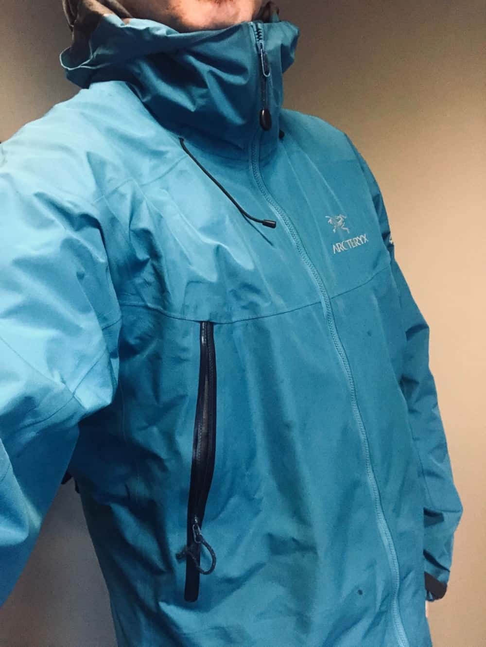 Side view of Arc'Teryx Beta LT jacket for men