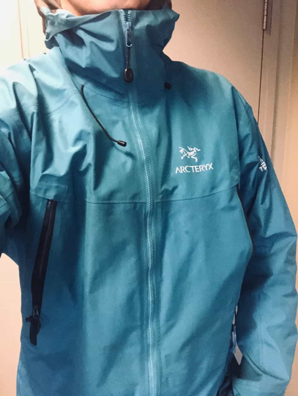 Roominess of the Arc'Teryx Beta LT jacket without being too baggy.