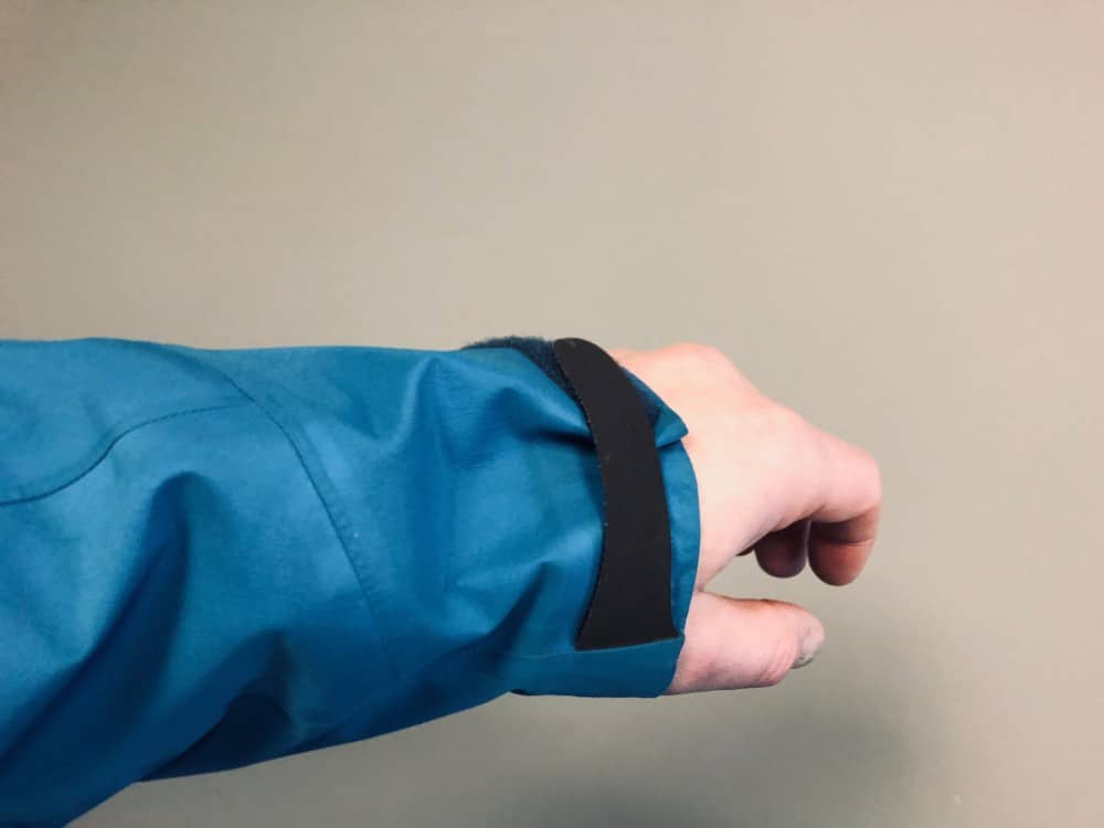 Arm length for Arc'Teryx Beta LT jacket