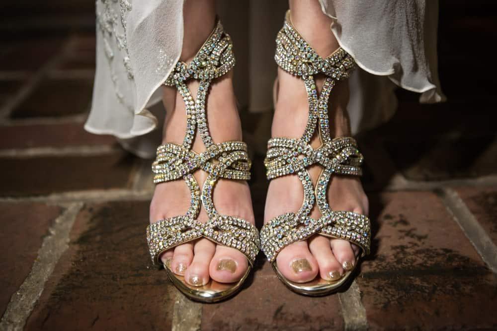 Gold-studded High Heels