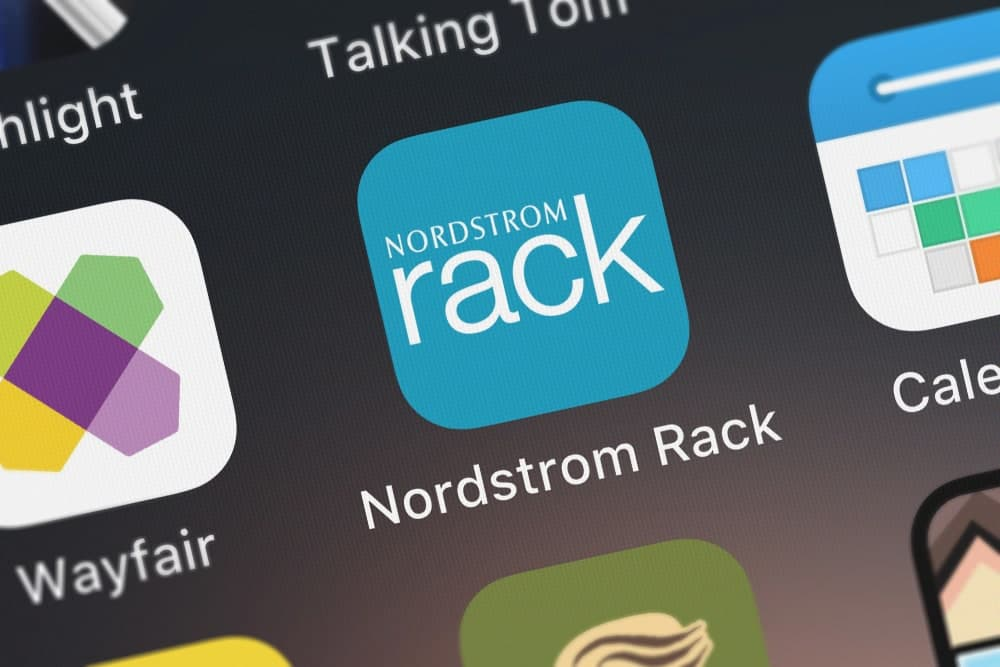 Nordstrom rack mobile icon.