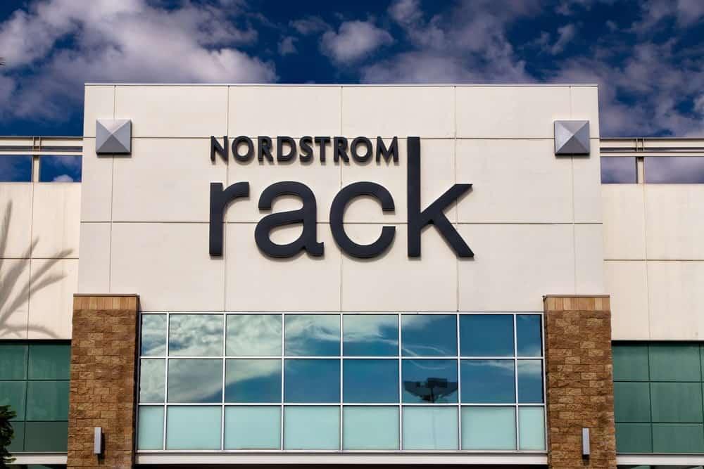 Nordstrom rack store exterior in Pasadena, CA.