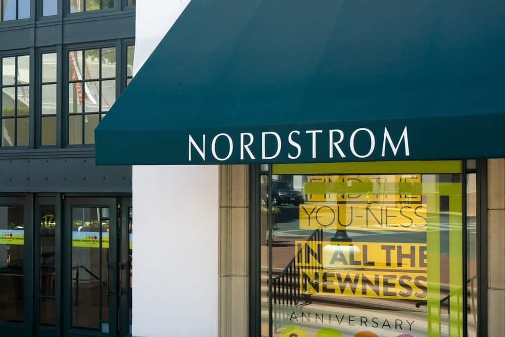 Nordstrom store front.