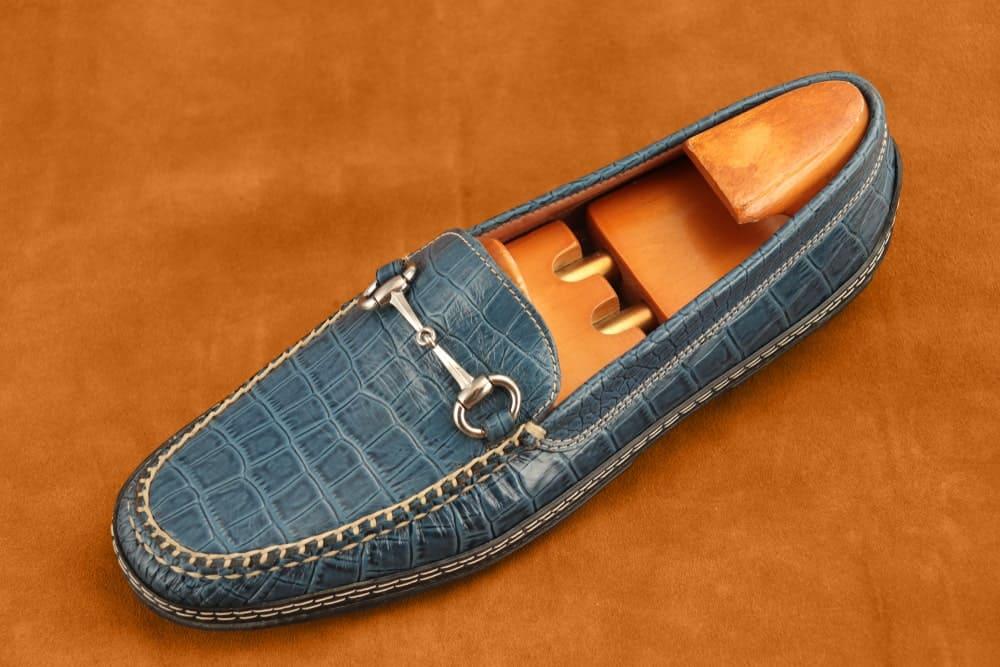 Blue bit loafer