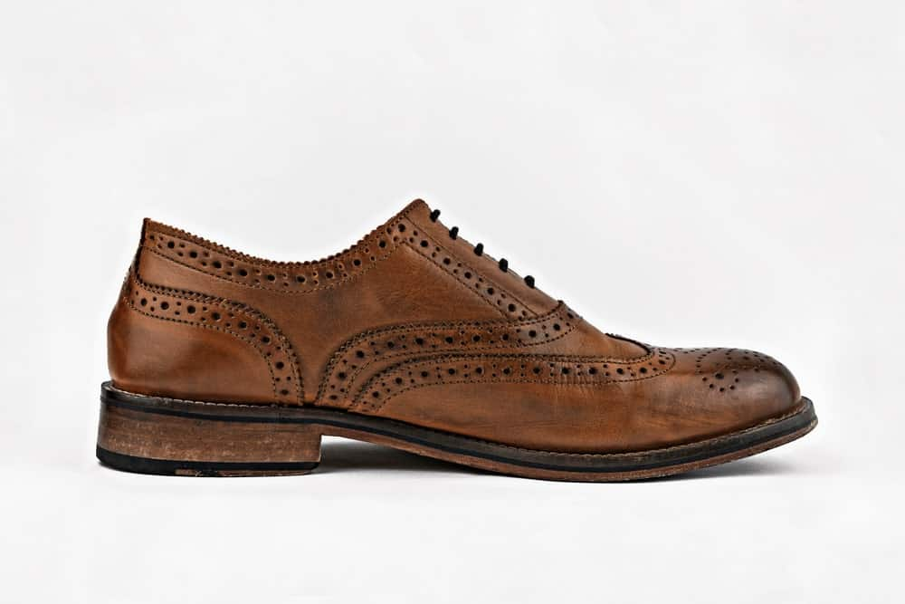 Classic brown Brogue shoes