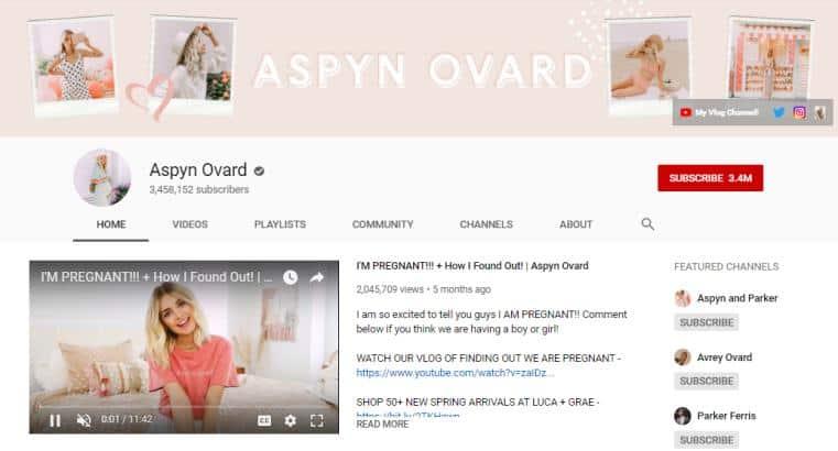 Aspyn Ovard vlog on fashion