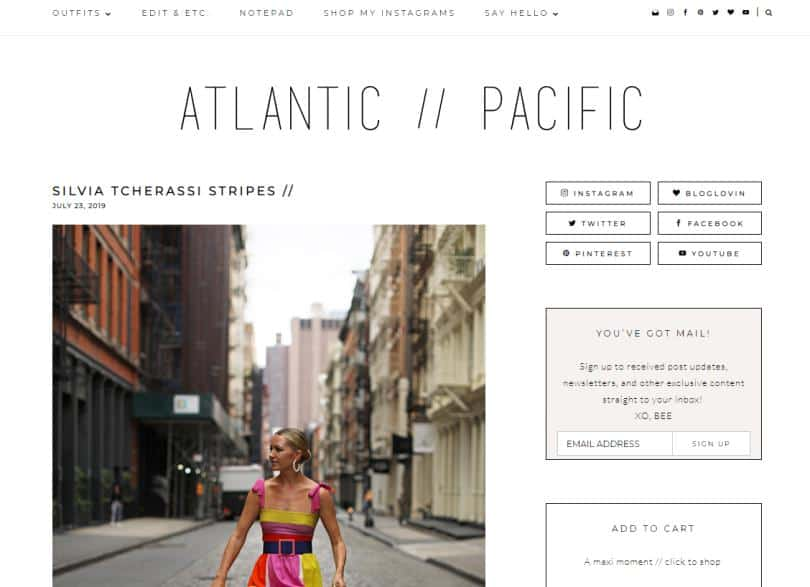 Atlantic Pacific website for fashion