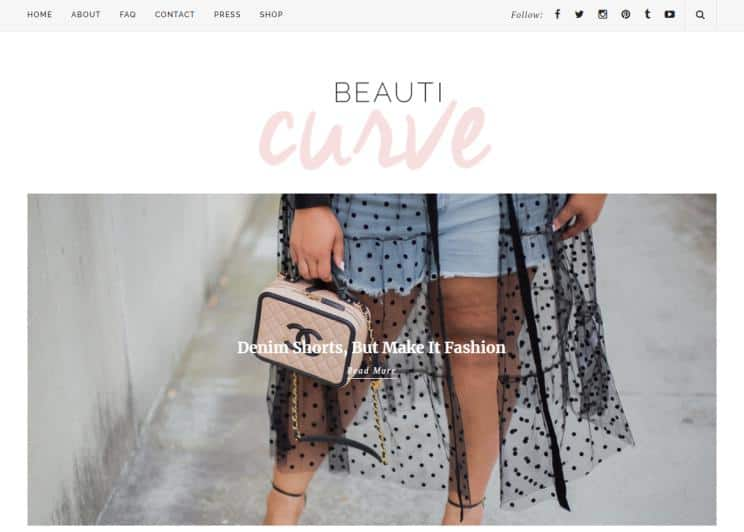 Beauticurve website for fashion