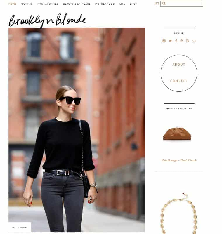 Brooklyn Blonde website for fashion