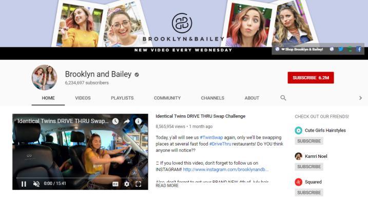 Brooklyn and Bailey vlog on fashion