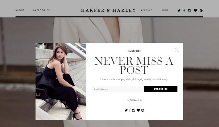 Harper & Harley website for fashion