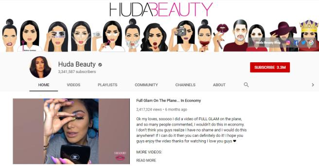 Huda Beauty vlogs on beauty