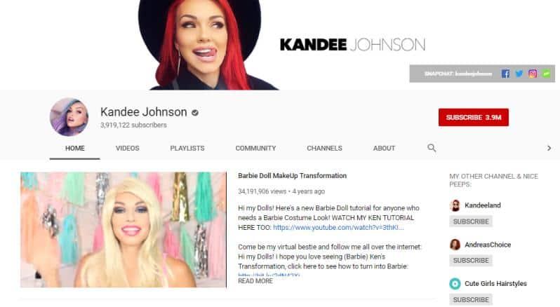 Kandee Johnson vlogs on beauty