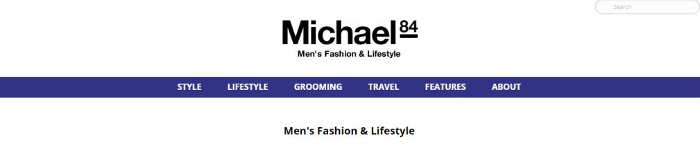 Michael 84 Blog for Men's wear