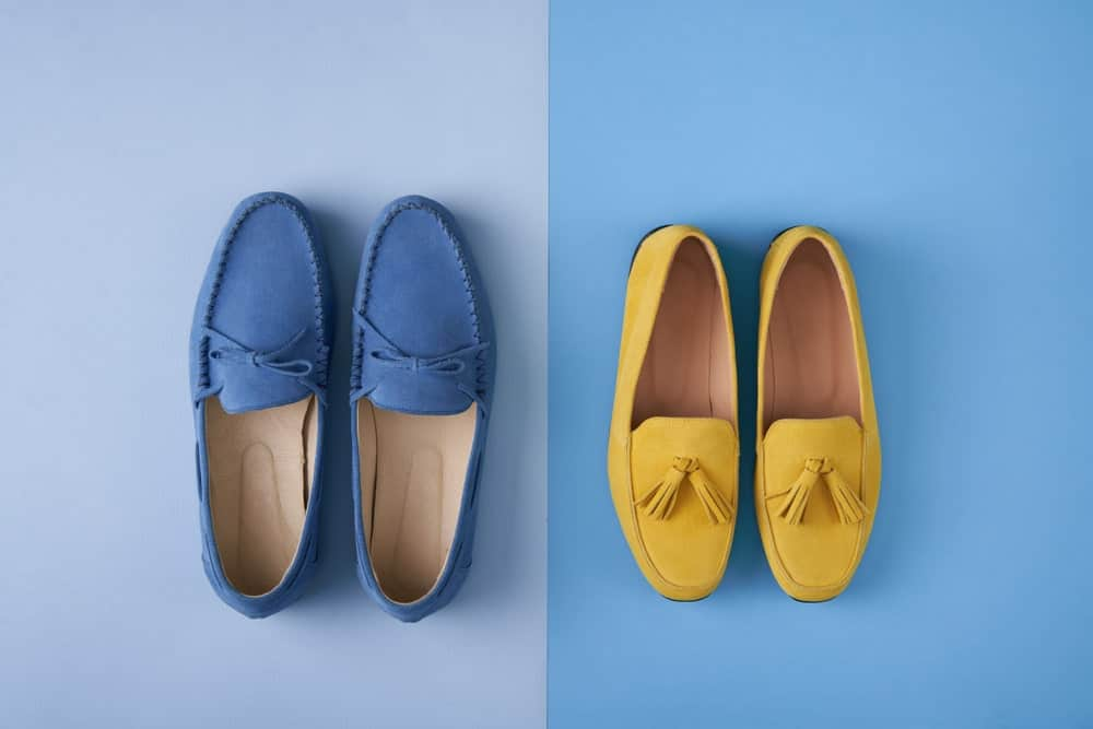 Two pair of moccasin shoes