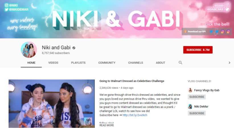 Niki and Gabi vlogs on beauty